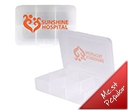 Clear Rectangular 6 Compartment Pill Boxes