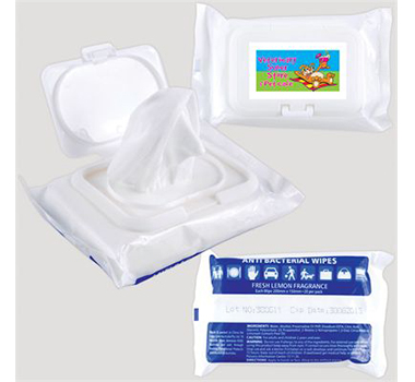 Anti Bacterial Wipes in Pouches