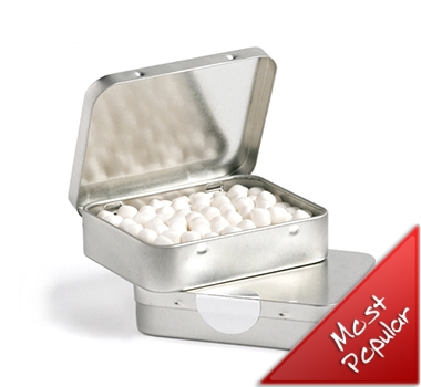Rectangle Hinge Tins with Mints 65 grams