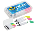 Wax Highlight Markers with Stylus in Case