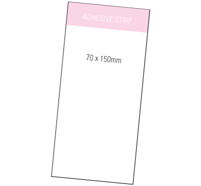 White Sticky Notes 70 mm x 150 mm