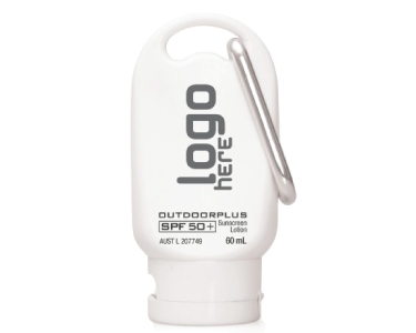 60ml SPF 50+ Sunscreen Carabiners