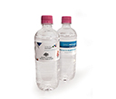 600ml Natural Spring Water Bottles with Pink Caps