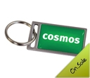 Metal Rectangular Epoxy Dome Keyrings
