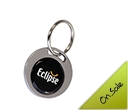 Metal Circular Oblong  Epoxy Dome Keyrings