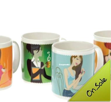 Evandale Porcelain Plus Mugs