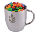 M&M Double Wall Stainless Steel Curved Mugs