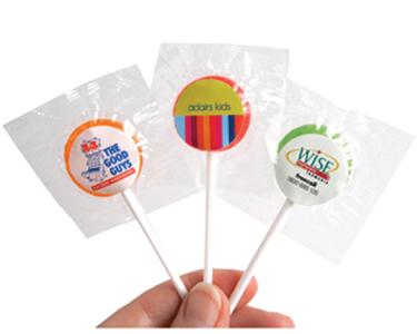Small Branded Lollipops