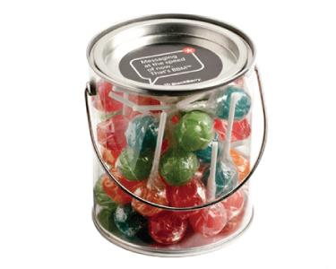 Large Bucket of Medium Candy Lollipops x 44