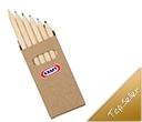 Cardboard Pack Coloured Pencils 6 Packs