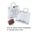 Short Handle Colouring Tote Bags