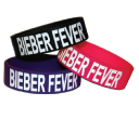Printed Fat Silicone Wristbands