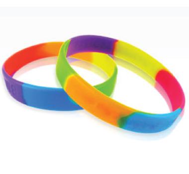 Multi Colour Silicone Wristbands