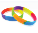 Multi Colour Silicone Wristbands