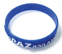 Embossed with Colour Silicone Wristbands