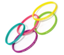 Printed Skinny Silicone Wristbands